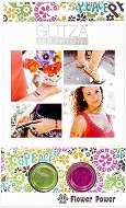 Бои с брокатен ефект за тяло - Силата на цветята - Комплект от 2 цвята, четка и лепенки