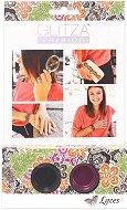 Бои с брокатен ефект за тяло - Дантели - Комплект от 2 цвята, четка и лепенки