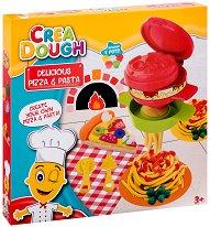 """Направи сам - Пица и паста - Творчески комплект с моделин от серията """"Crea Dough"""" -"""