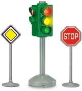"""Светофар с 2 пътни знака - Детска играчка със светлинен ефект от серията """"City team"""" - играчка"""