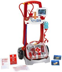 Детска лекарска количка - Комплект с инструменти и аксесоари -