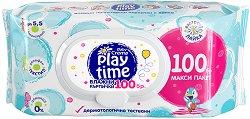 Бебешки мокри кърпички с екстракт от лайка - Play Time - лосион