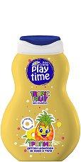 Детски шампоан за коса и тяло - Play Time - С аромат на тропически плодове - олио