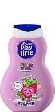 Детски шампоан за коса и тяло - Play Time - С аромат на ягода - олио