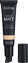 IsaDora Natural Matt Oil-Free Foundation - Матиращ фон дьо тен за естествена визия - продукт
