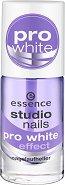 """Essence Studio Nails Pro White Effect - Избелващ лак за нокти против пожълтяване от серията """"Studio Nails"""" - молив"""
