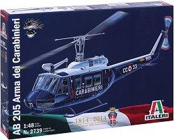 Италиански хеликоптер - AB 205 Arma dei Carabinieri - Сглобяем авиомодел -