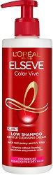 Elseve Color Vive Low Shampoo 3 in 1 Cleansing Cream - Шампоан без сулфати за боядисана коса - душ гел
