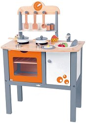Детска кухня - Дървена играчки с аксесоари - играчка