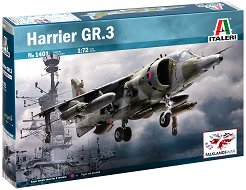 Британски изтребител - Harrier GR.3 - Сглобяем авиомодел -