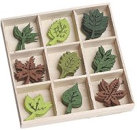 Фигурки от филц - Листа - Комплект от 45 броя в кутия