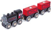 Товарен влак с парен локомотив - играчка