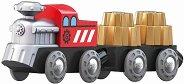 """Влак със зъбни колела - Детска дървена играчка от серията """"Hape: Влакчета"""" - играчка"""