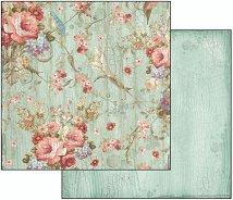 Хартия за скрапбукинг - Цветя - Размери 30.5 х 30.5 cm