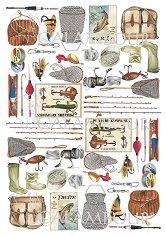 Декупажна хартия - Риболов