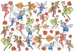 "Декупажна хартия - Елфи 82 - Серия ""Digital Collection Mulberry"""