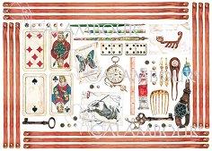 Декупажна хартия - Карти за игра 08