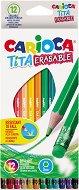 Цветни моливи с гума - Tita - Комплект от 12 цвята