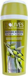 """Nature of Agiva Olives Nature Revive Olive Oil Repairing Shampoo - Възстановяващ шампоан за суха и третирана коса от серията """"Olives"""" -"""