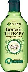 Garnier Botanic Therapy Green Tea & Eucalyptus & Citrus Shampoo - Шампоан за нормална, склонна към омазняване коса със зелен чай, евкалипт и цитрус -