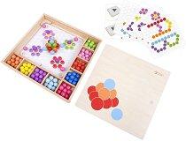 Мозайка с топчета - Детска дървена играчка - играчка
