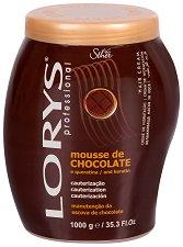 Lorys Professional Hair Cream Chocolate Mousse & Keratin - Овлажняваща крем маска за боядисана и третирана коса с какаово масло и кератин - шампоан