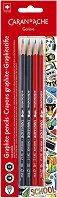 """Графитни моливи - Комплект от 4 броя от серията """"School"""""""