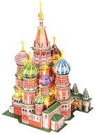 Катедралата - Св. Василий, Москва - Светещ 3D пъзел -