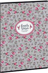 Ученическа тетрадка - Pink Roses : Формат А4 с широки редове - 40 листа -