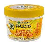 Garnier Fructis Nourishing Banana Hair Food - Подхранваща маска с екстракт от банан за суха коса - продукт