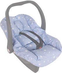 Калъфка с подложка за новородено - Аксесоар за бебешко кошче за кола - залъгалка