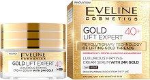 """Eveline Gold Lift Expert 40+ Cream Serum with 24K Gold - Стягащ дневен и нощен крем-серум за лице със златни частици от серията """"Gold Lift Expert"""" - крем"""