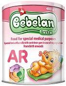 Антирефлуксно мляко с клей от рожкови за кърмачета - Bebelen Lacta AR - Метална кутия от 400 g за бебета от момента на раждането -