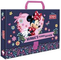 Кутия със закопчалка и дръжка - Мини Маус - Размери 33 x 24 cm