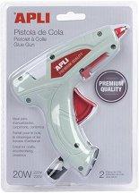 Пистолет за топло лепене - Комплект с 2 силиконови пръчки -