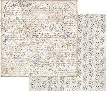 Хартия за скрапбукинг - Старинен почерк - Размери 30.5 х 30.5 cm