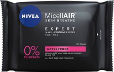 "Nivea MicellAIR Expert Waterproof Make-up Remover Wipes - Почистващи кърпички от серията ""MicellAIR Expert"" - балсам"