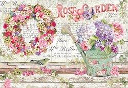 Декупажна хартия - Розова градина