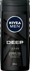 """Nivea Men Deep Clean Shower Gel - Душ гел за мъже от серията """"Deep"""" - душ гел"""