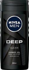 Nivea Men Deep Clean Shower Gel - дезодорант
