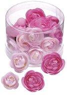 Декоративни пластмасови цветчета - Лютиче - Комплект от 20 броя в кутия