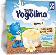Nestle Yogolino - Млечен десерт ванилия - Опаковка от 4 х 100 g за бебета над 6 месеца - гърне