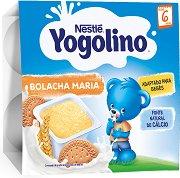 Nestle Yogolino - Млечен десерт бисквита - Опаковка от 4 х 100 g за бебета над 6 месеца - гърне