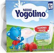 Nestle Yogolino - Млечен десерт ягода - Опаковка от 4 х 100 g за бебета над 6 месеца - продукт