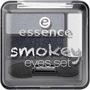 Essence Smokey Eyes Set - Палитра сенки за опушен грим - червило