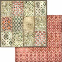 Хартия за скрапбукинг - Цветни мотиви - Размери 30.5 х 30.5 cm