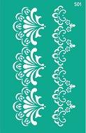 Самозалепващ шаблон - Цветни фризове