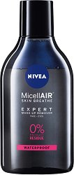 Nivea MicellAIR Make-Up Bi-Phase Micellar Cleansing Water - Двуфазна мицеларна вода за почистване на грим - лак