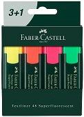 Текст маркери със скосен връх 1548 - Комплект от 4 цвята