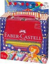 Акварелни цветни моливи - Цирк - Комплект от 34 части